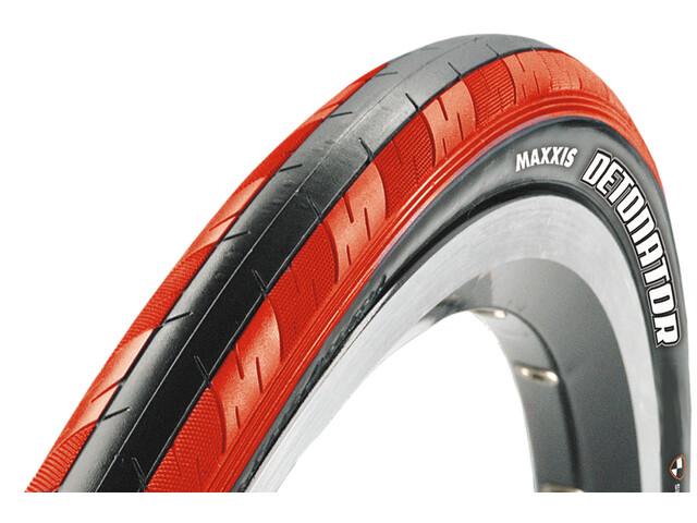 "Maxxis Detonator Cubierta 28"", Dual flexible, red/black"